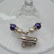 Wine Bottle Shelf Wine Glass Charm - Elegance Style